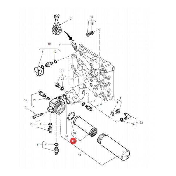 filtr oleju hydrauliki hy90584 katalog 600x600 - Filtr hydrauliki HY90584 SF Filtr