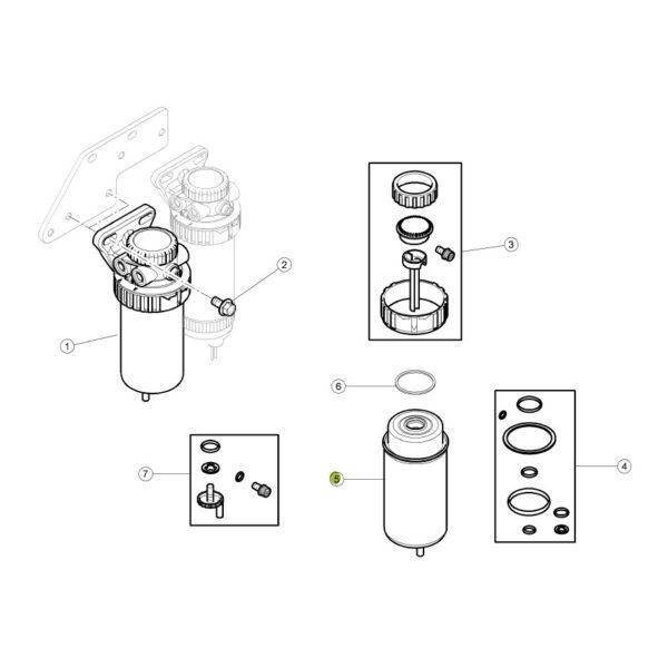 filtr paliwa z separatorem wody wk8162 katalog 600x600 - Filtr paliwa Claas WK8162 Mann Filter