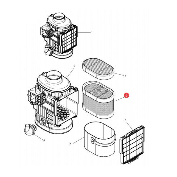 filtr powietrza zewnetrzny CP24420 katalog 600x600 - Filtr powietrza silnika CP24420 Mann Filter
