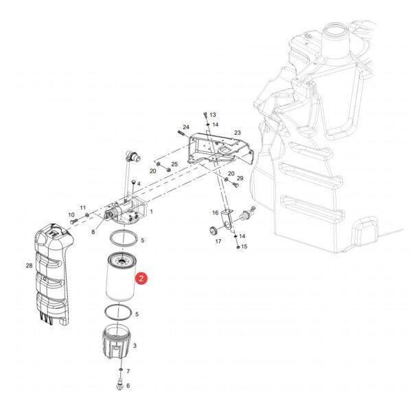 filtr wymienny paliwa WK1070X katalog 600x599 - Filtr paliwa Fendt WK1070X Mann Filter