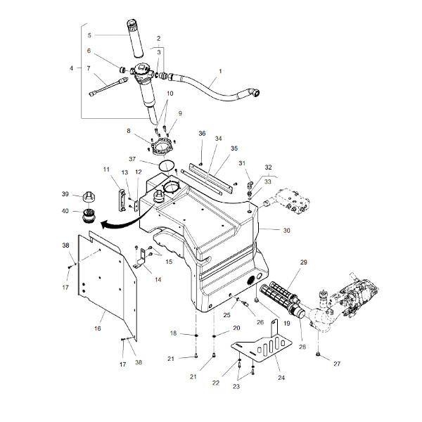 AHV3073058 filtr katalog - Filtr oleju hydraulika V3073058 Argo Hytos
