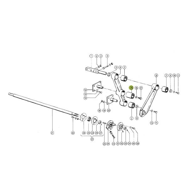 BP647431Z091 katalog - Tulejka metalowo-gumowa wahacza młocarni Claas BP647431.Z091 Bepco