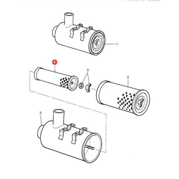 P119410 filtr powietrza wewnetrzny katalog 600x599 - Filtr powietrza silnik Donaldson P119410
