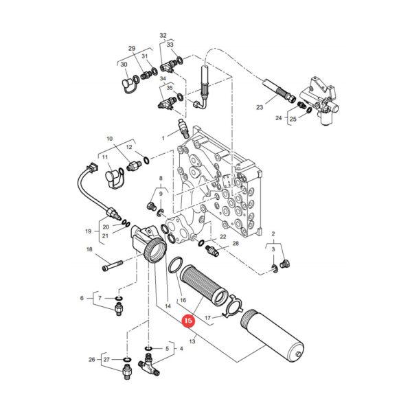 P164166 filtr oleju hydrauliki wklad katalog 600x600 - Filtr oleju hydrauliki Donaldson P164166