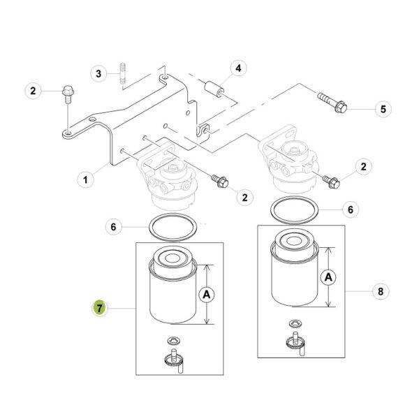 P551421 filtr paliwa z separatorem wody katalog 600x600 - Filtr paliwa Donaldson P551421
