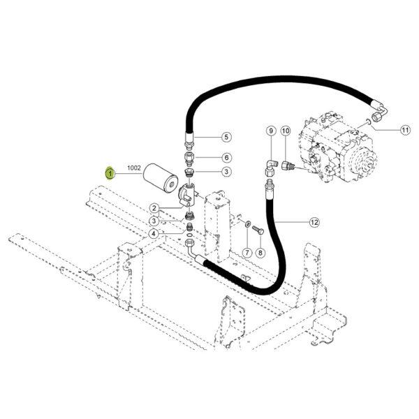 WD950 2 filtr oleju hydrauliki puszkowy katalog 600x600 - Filtr oleju hydrauliki Mann Filter WD950/2