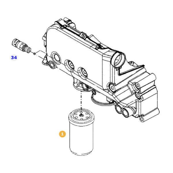 WDK962 1 filtr paliwa silnika katalog 600x600 - Filtr paliwa Mann Filter WDK962/1
