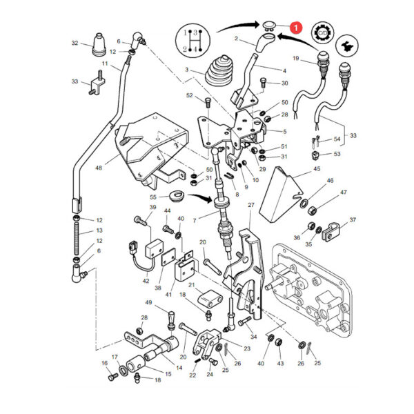 MF3786513M1 katalog 600x600 - Wkładka dźwigni zmiany biegów Massey Ferguson 3786513M1 - Oryginał