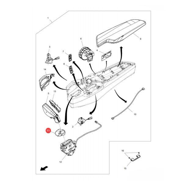 Oparcie joysticka Massey Ferguson AG638972 Oryginał Katalog