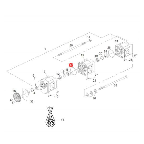 Podkładka uszczelniająca Massey Ferguson F279940050050 Oryginał Katalog