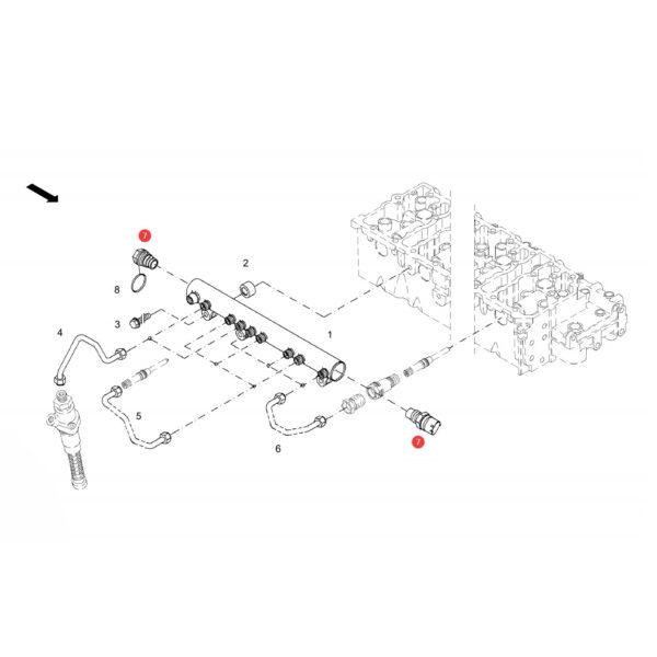 Sensor Fendt F339202710260 Oryginał Katalog
