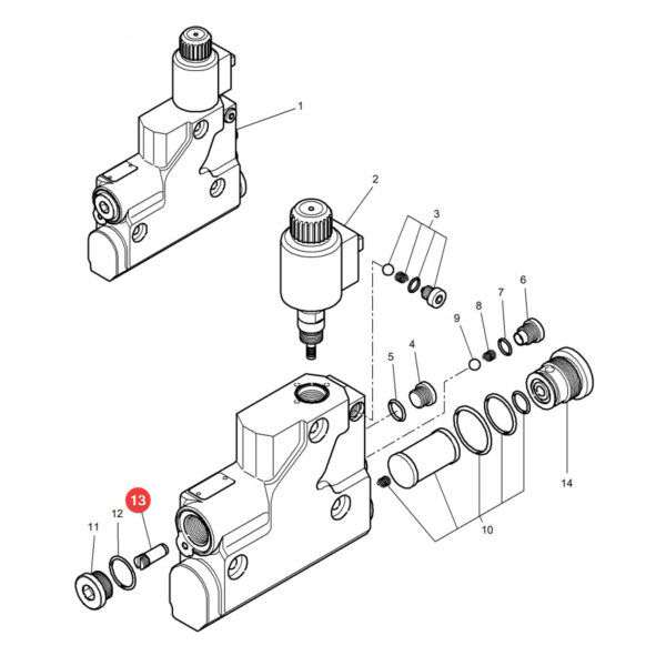 Filtr bloku hydraulicznego Massey Ferguson F716961020220 Oryginał Katalog