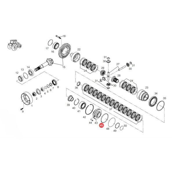 Komplet pierścieni uszczelniających Fendt F718301020210 Oryginał Katalog