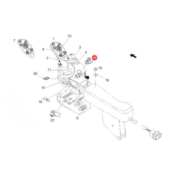 Przełącznik zakresu jazdy Fendt F718970160150 Oryginał Katalog