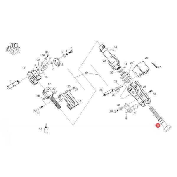 Łącznik Fendt F728870030040 Oryginał Katalog