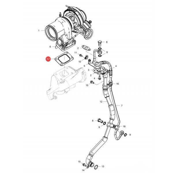 Uszczelka turbiny Fendt F836200100180 Oryginał Katalog