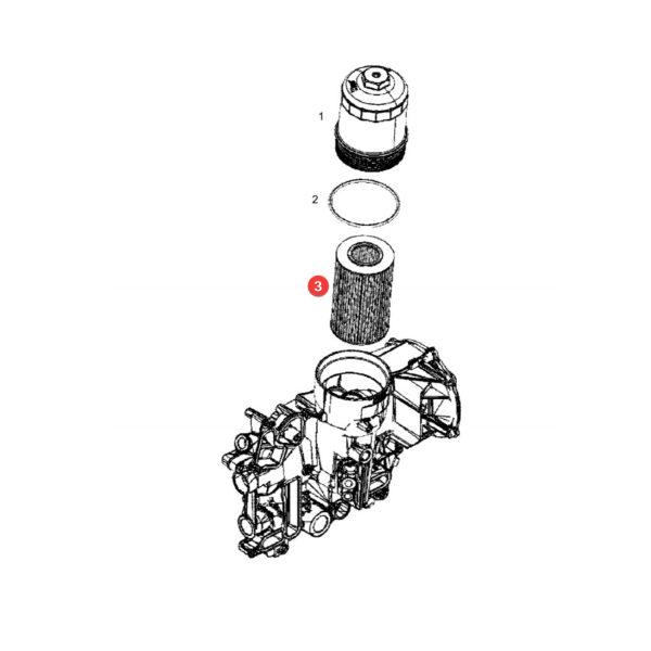 Filtr oleju Fendt F836200510010 Oryginał Katalog