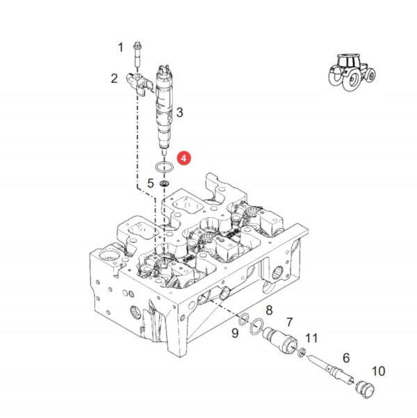 Pierścień uszczelniający Fendt F836200710140 Oryginał Katalog