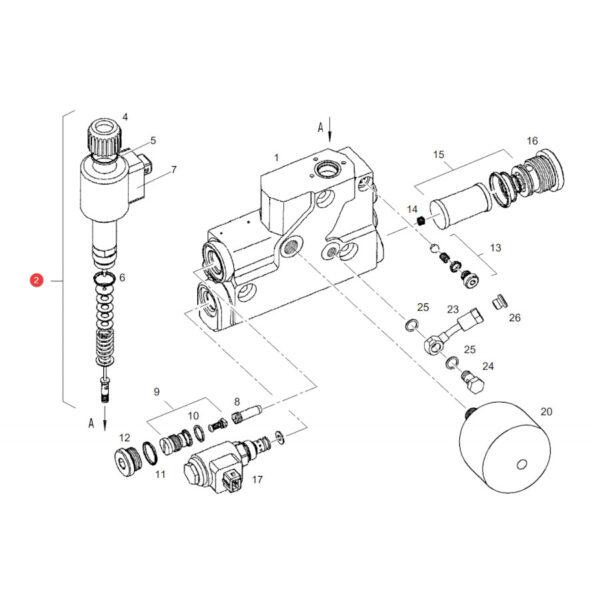 Elektrozawór Fendt F916961020170 Oryginał Katalog