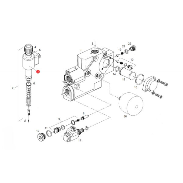 Elektromagnes Fendt F916961020210 Oryginał Katalog