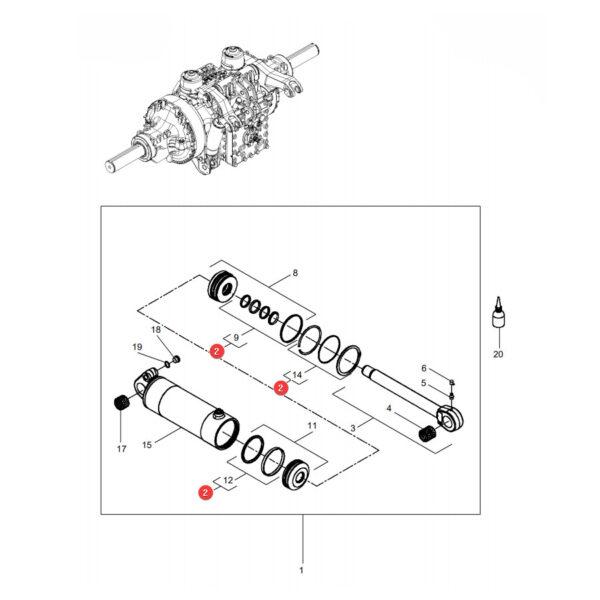 Zestaw pierścieni uszczelniających Massey Ferguson F931860030010 Oryginał Katalog