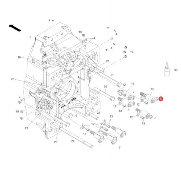 Zawór sterujący Massey Ferguson G339150600050 Oryginał Katalog