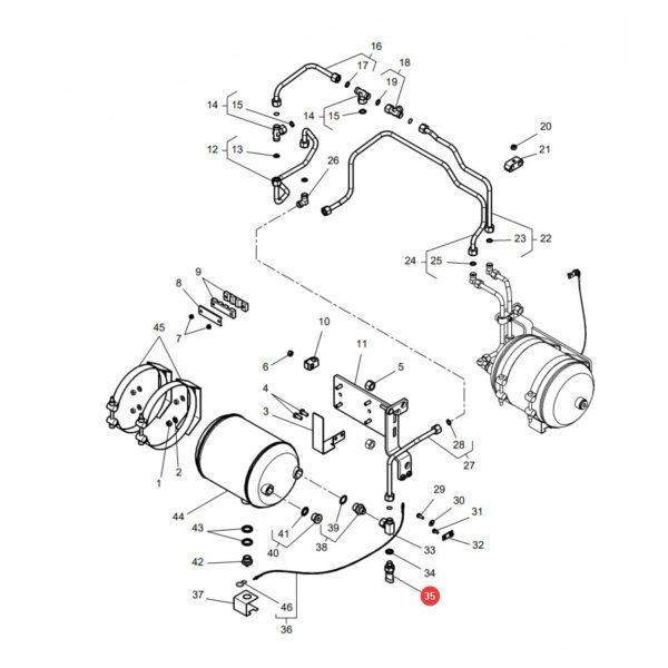Czujnik ciśnienia Massey Ferguson G716970020055 Oryginał Katalog