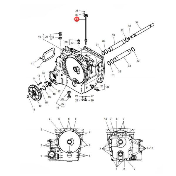 Czujnik poziomu oleju Massey Ferguson G931860061151 Oryginał Katalog