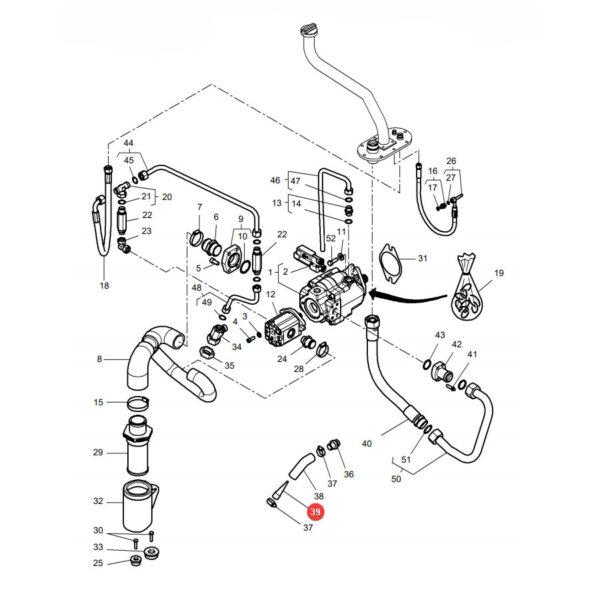Filtr wstępny Massey Ferguson H178950010040 Oryginał Katalog