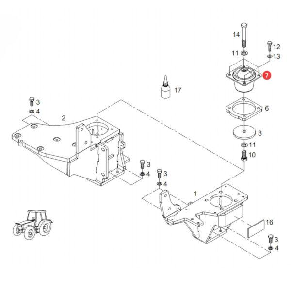 Poduszka kabiny Fendt H404500200101 Oryginał Katalog