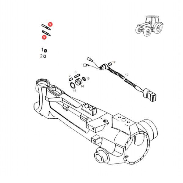 Czujnik kąta skrętu Fendt H524300020030 Oryginał Katalog