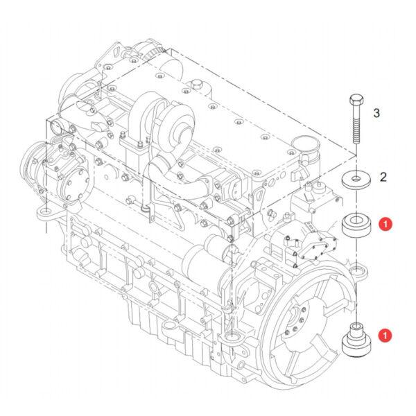 Mocowanie silnika Fendt H716201010100 Oryginał Katalog