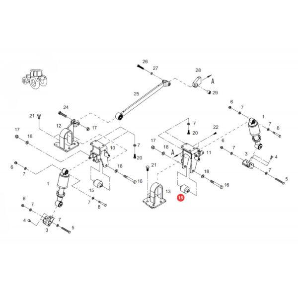 Tuleja gumowa Fendt H931502200040 Oryginał Katalog