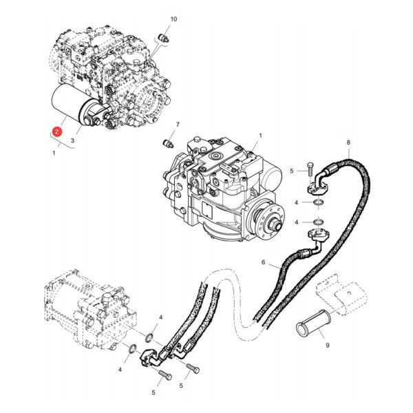 Filtr oleju hydrauliki Donaldson P164375 Katalog