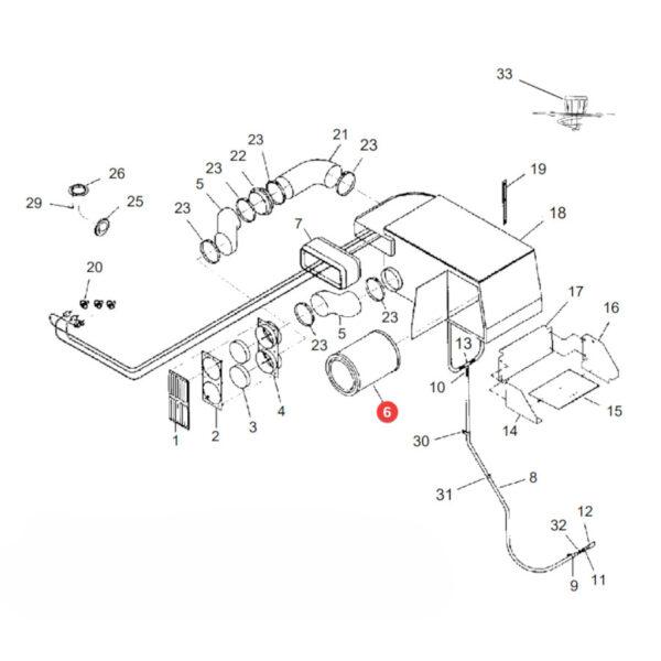 Filtr powietrza zewnętrzny Donaldson P527484 Katalog