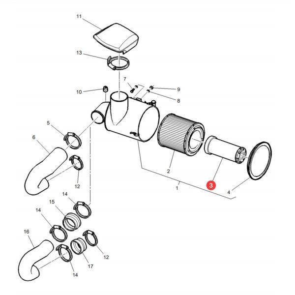 Filtr powietrza wewnętrzny Donaldson P532502 Katalog