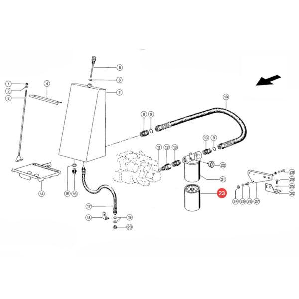 Filtr oleju hydrauliki Donaldson P550148 Katalog