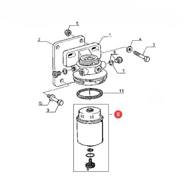 Filtr paliwa z separatorem wody Donaldson P551423 Katalog