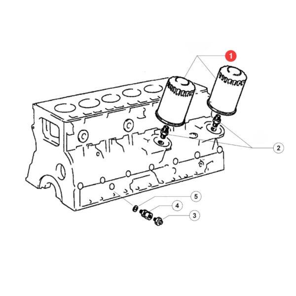 Filtr oleju silnika Donaldson P553411 Katalog
