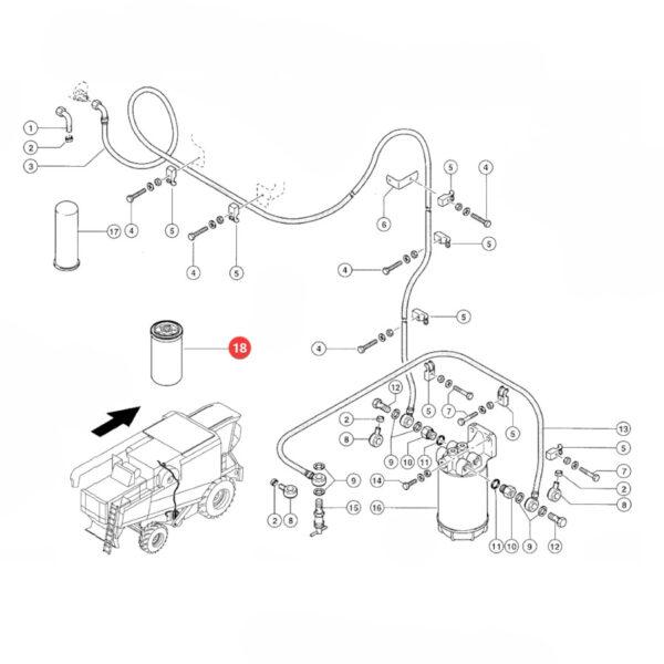 Filtr oleju silnika puszkowy Donaldson P554005 Katalog