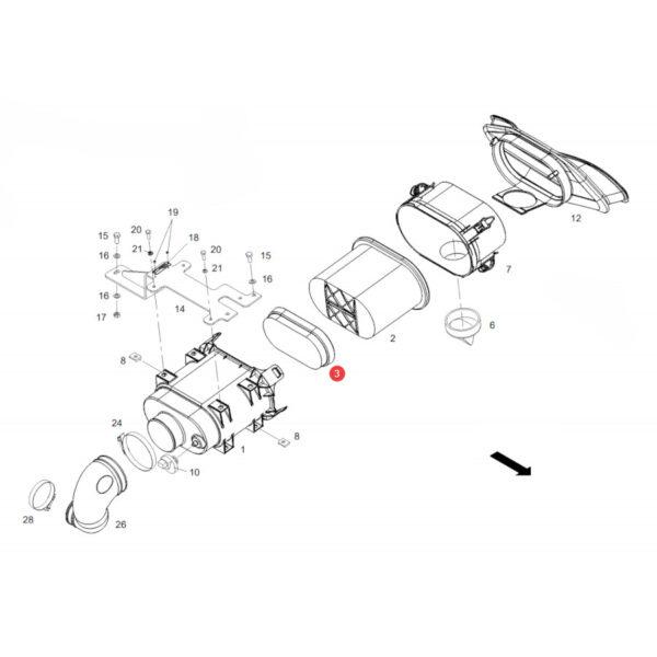 Filtr powietrza wewnętrzny Donaldson P600975 Katalog