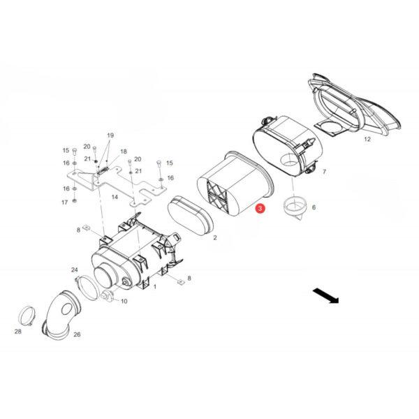Filtr powietrza zewnętrzny Donaldson P608533 Katalog