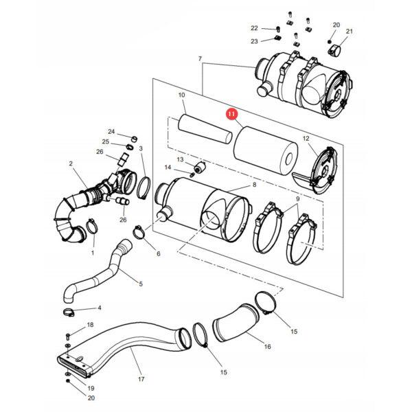 Filtr powietrza zewnętrzny Donaldson P611190 Katalog