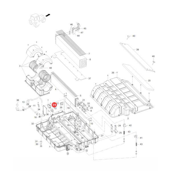 Opornik elektryczny Massey Ferguson V37222400 Oryginał Katalog