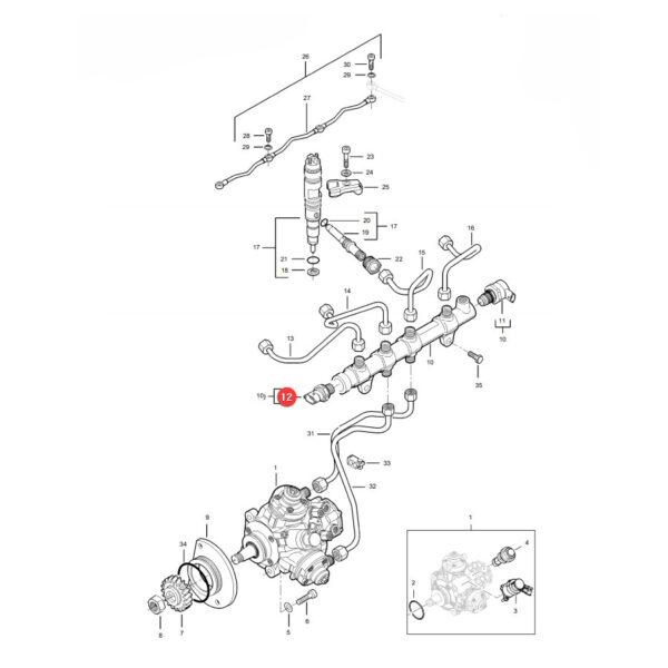 Czujnik Massey Ferguson V837079833 Oryginał Katalog