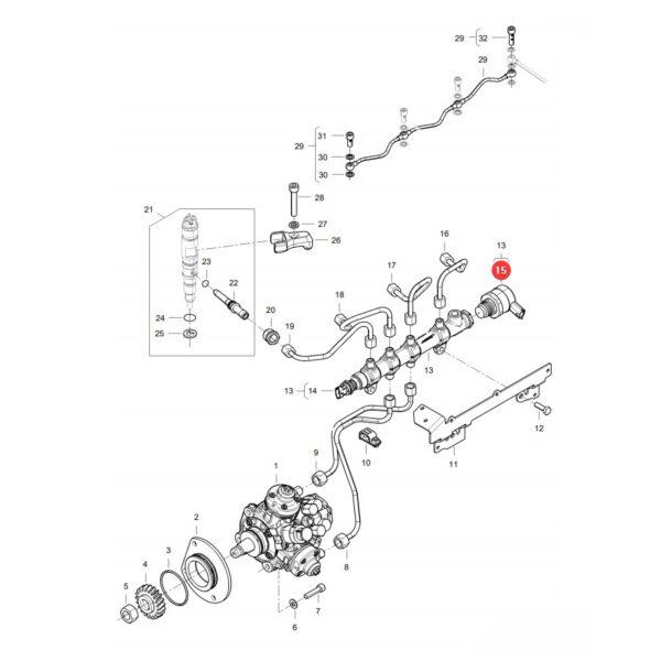 Zawór ciśnieniowy Massey Ferguson V837079834 Oryginał Katalog