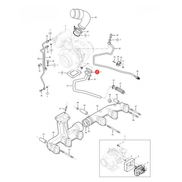 Uszczelka Massey Ferguson V837084638 Oryginał Katalog