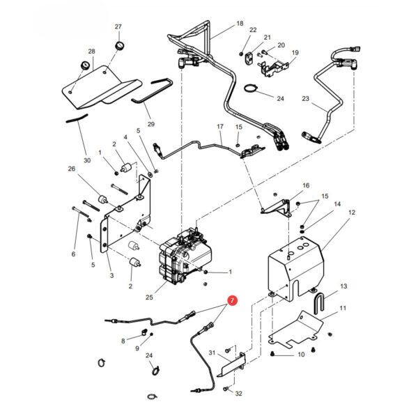 Czujnik Massey Ferguson V837086231 Oryginał Katalog