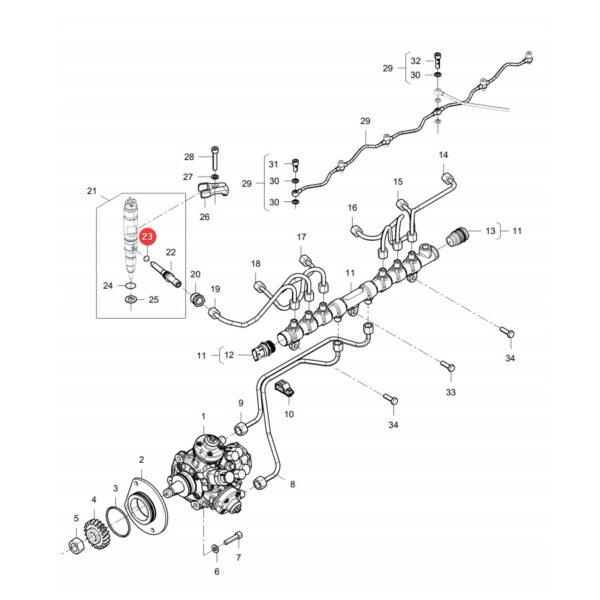 Pierścień oring Massey Ferguson V837091050 Oryginał Katalog