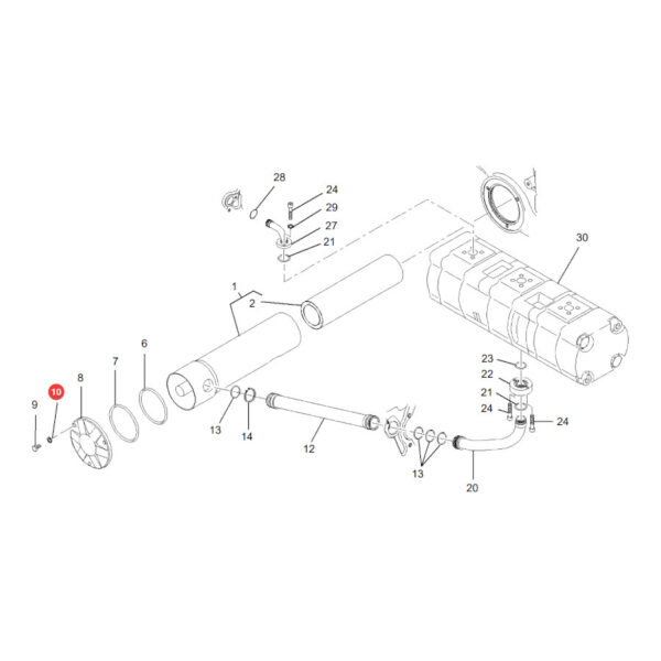 Podkładka sprężysta Massey Ferguson X520804401000 Oryginał Katalog